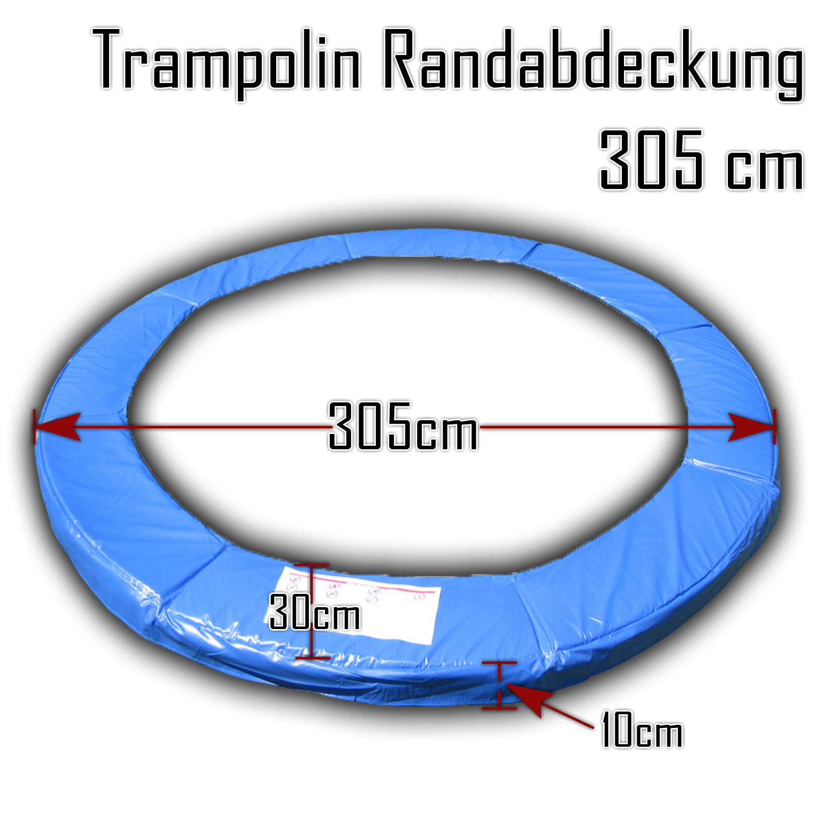 randabdeckung trampolin 305 schwimmbadtechnik. Black Bedroom Furniture Sets. Home Design Ideas
